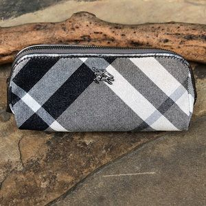 Burberry canvas cosmetic pouch